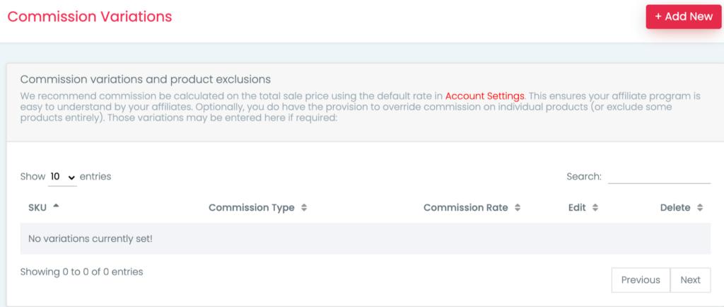 ShoutOut custom % interface